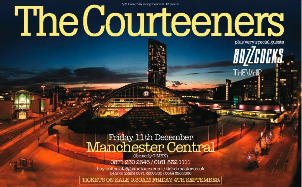 The Courteeners at Manchester Central - 11th December 2009