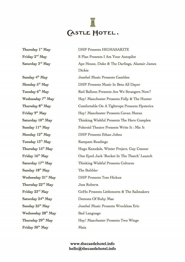 the-castle-hotel-manchester-gig-guide-may-2014